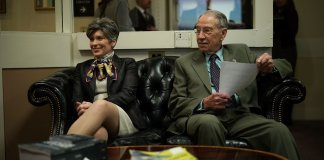 Iowa Sens. Chuck Grassley and Joni Ernst