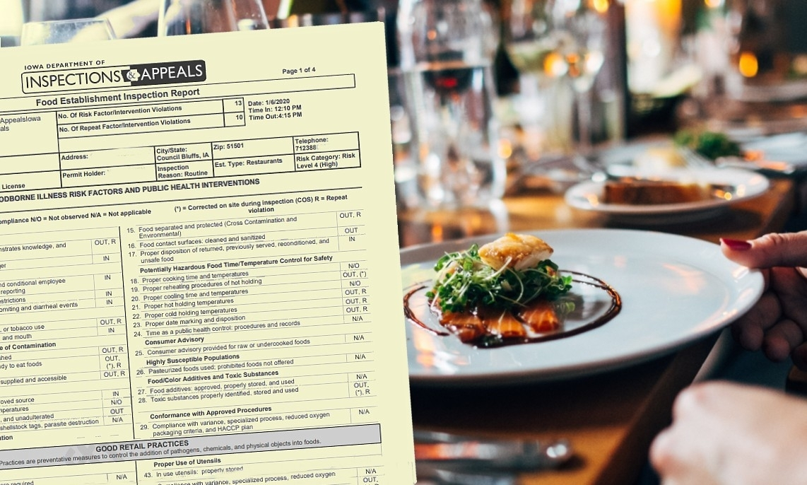 Black grime, pink slime and cockroaches: A look at Iowa's latest restaurant inspections