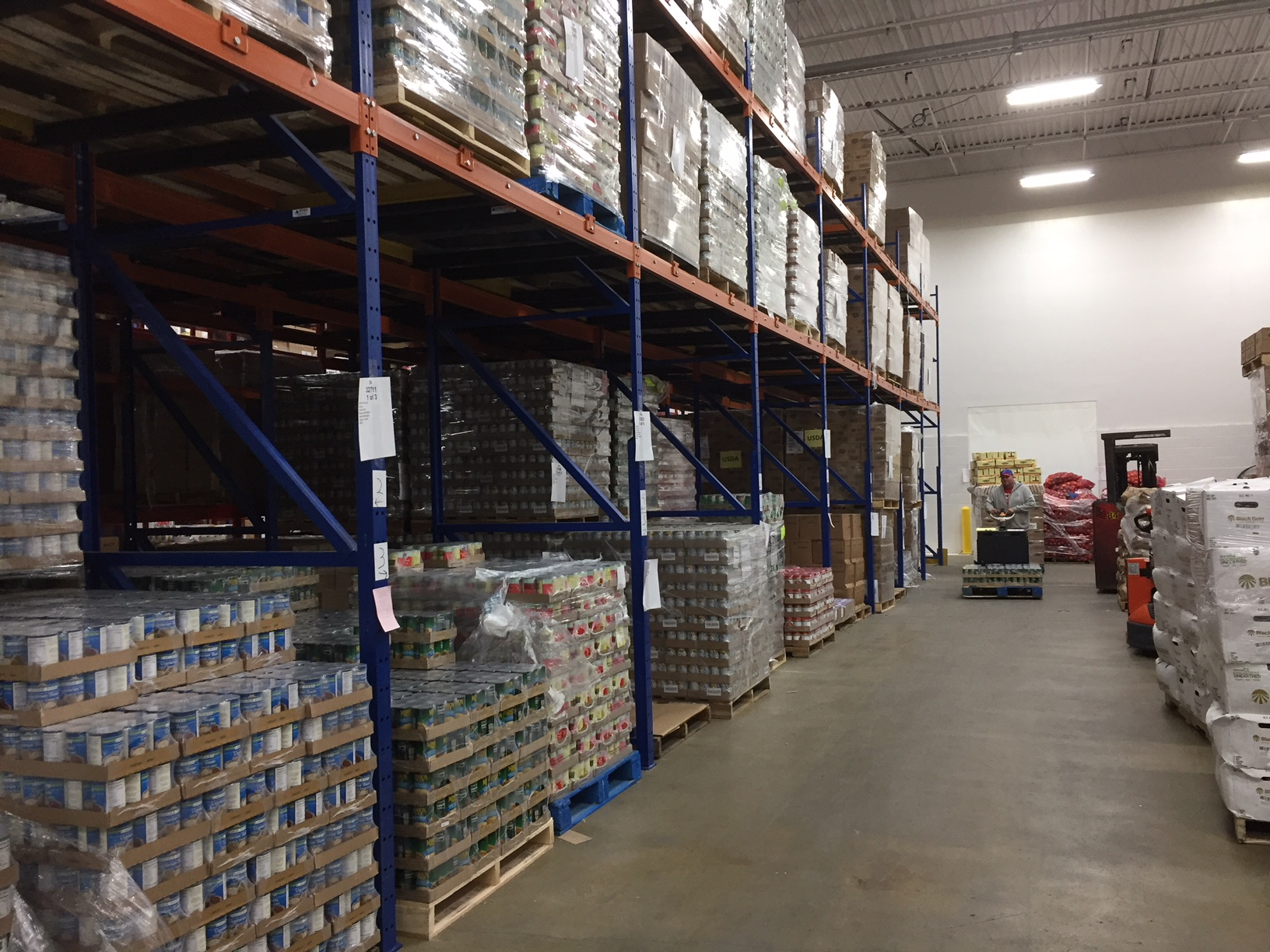The Food Bank of Iowa's distribution center in east Des Moines. (Photo courtesy of Food Bank of Iowa)