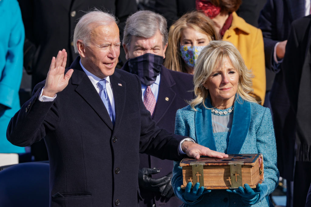 President Biden urges a divided nation to 'end this uncivil war' in inaugural address