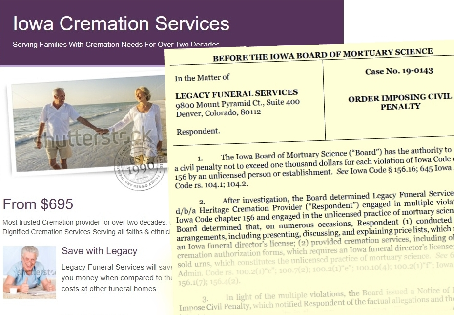 Unlicensed, 'scandal-ridden' broker offers cremation services to grieving Iowa families