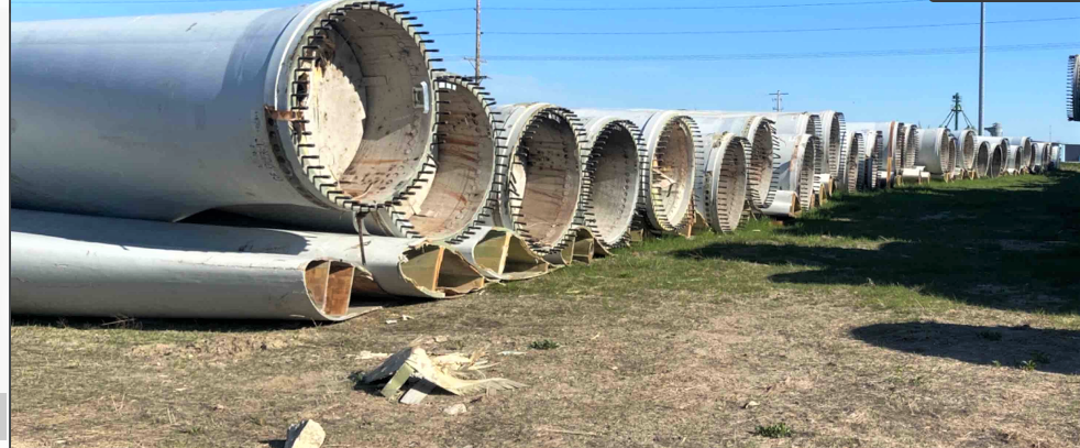 State: Company illegally storing hundreds of old wind turbine blades at three Iowa sites