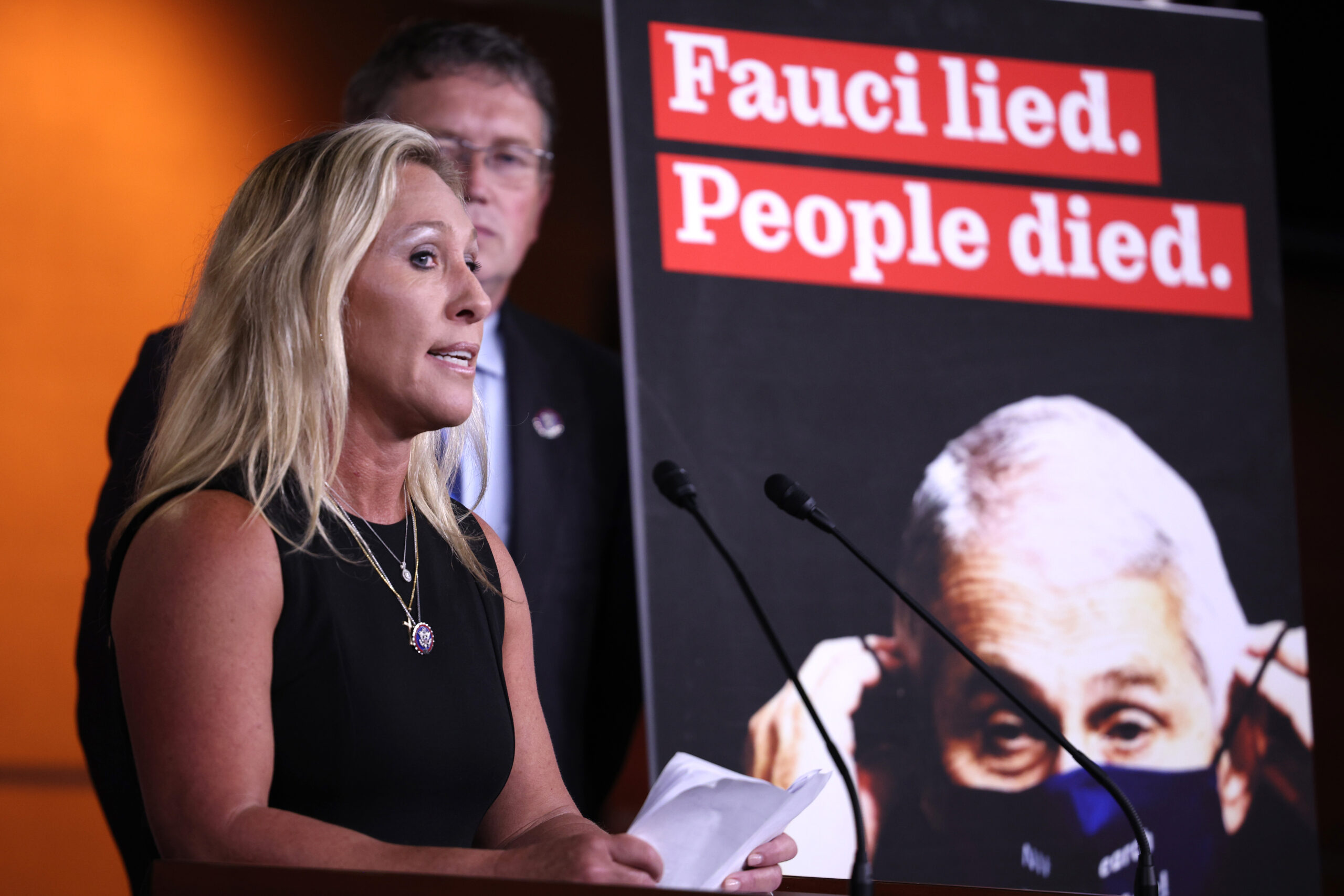 Trump allies Marjorie Taylor Greene and Matt Gaetz rally in Des Moines