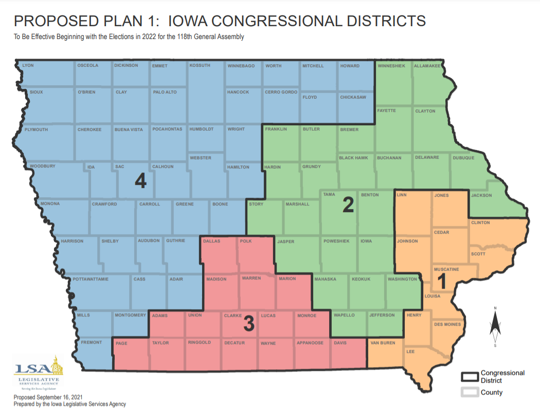Proposed redistricting maps reshape Iowa's political landscape